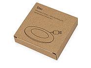 Беспроводное зарядное устройство со встроенным кабелем 2-в-1 Disc, белый, фото 7