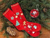 Носки в шаре Рождество женские, красный