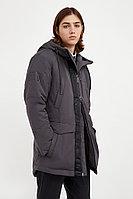 Пальто мужское Finn Flare, цвет темно-серый, размер 2XL