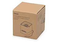 Портативная колонка с подсветкой Deco, soft touch, черный, фото 7