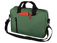Сумка для ноутбука Wing с вертикальным наружным карманом, зеленое яблоко, фото 2