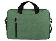 Сумка для ноутбука Wing с вертикальным наружным карманом, зеленое яблоко, фото 5