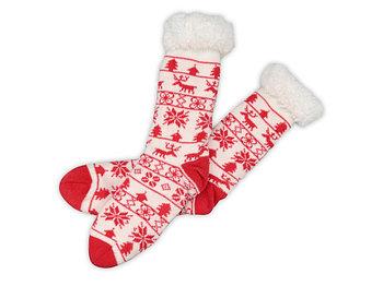 Домашние носки мужские, красный