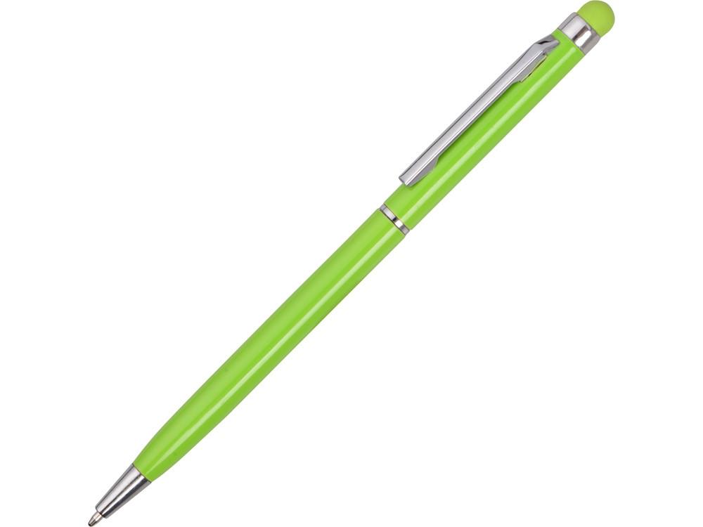 Ручка-стилус металлическая шариковая Jucy, зеленое яблоко