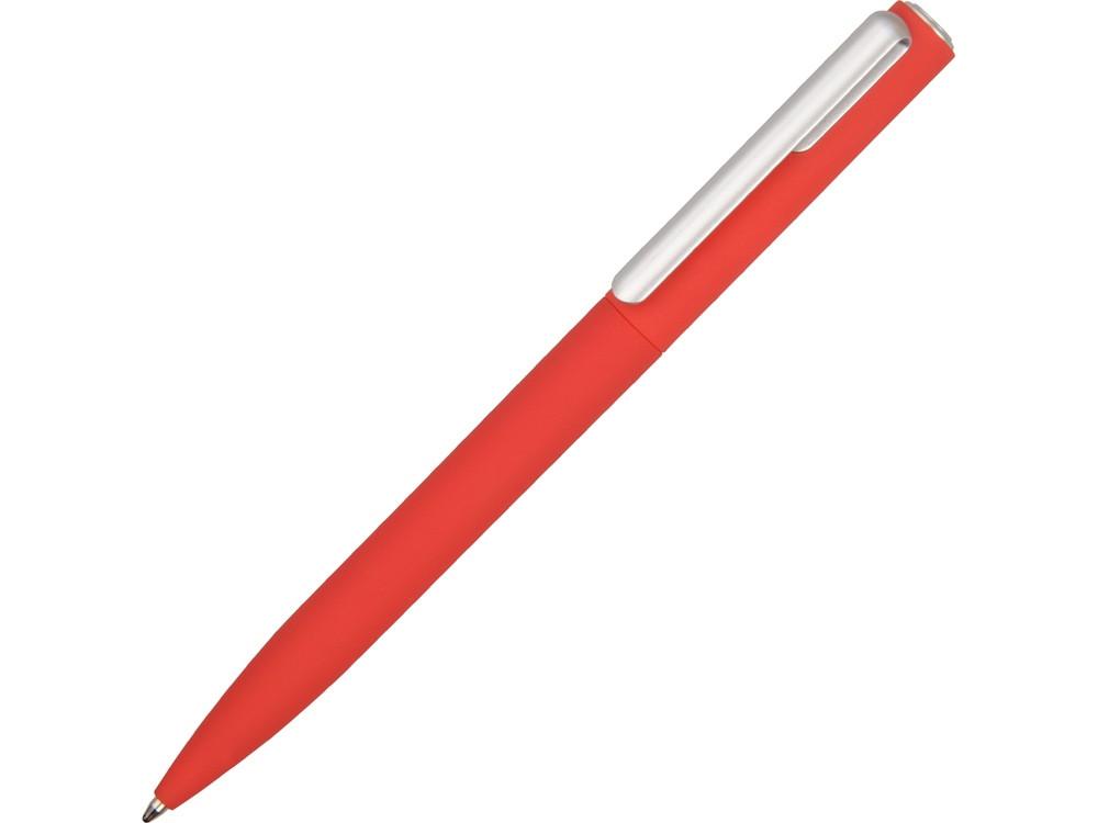 Ручка шариковая пластиковая Bon с покрытием soft touch, красный