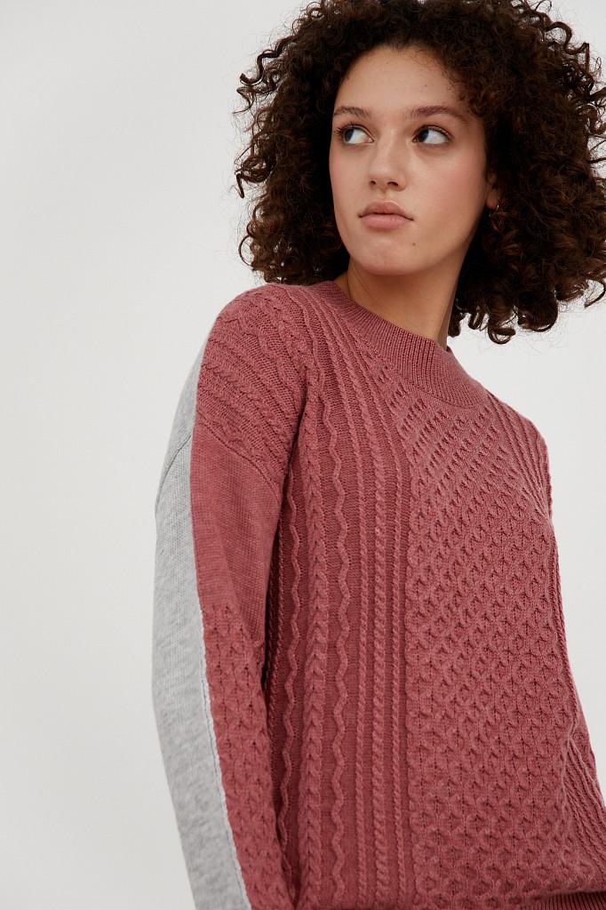 Джемпер женский Finn Flare, цвет темно-розовый, размер XL - фото 1