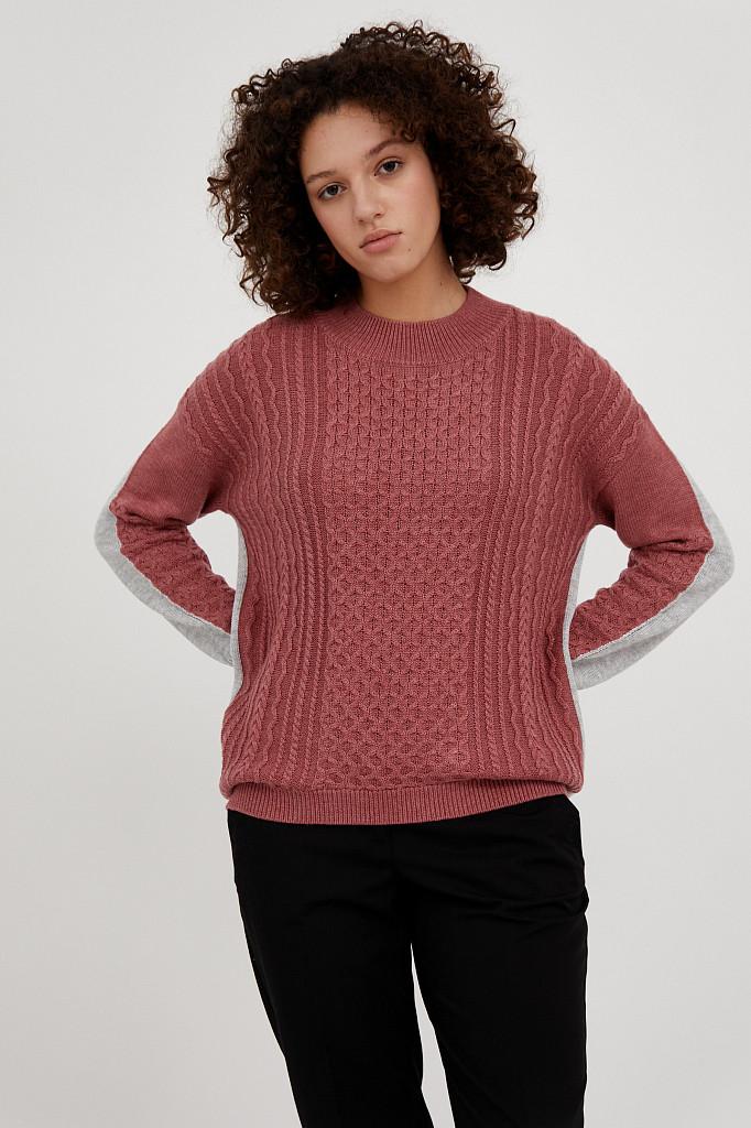Джемпер женский Finn Flare, цвет темно-розовый, размер XL - фото 2