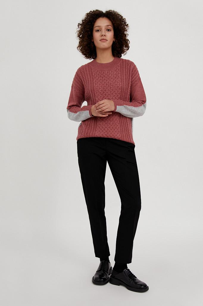 Джемпер женский Finn Flare, цвет темно-розовый, размер XL - фото 3