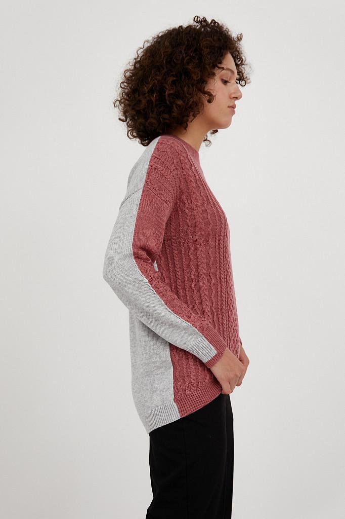 Джемпер женский Finn Flare, цвет темно-розовый, размер XL - фото 5
