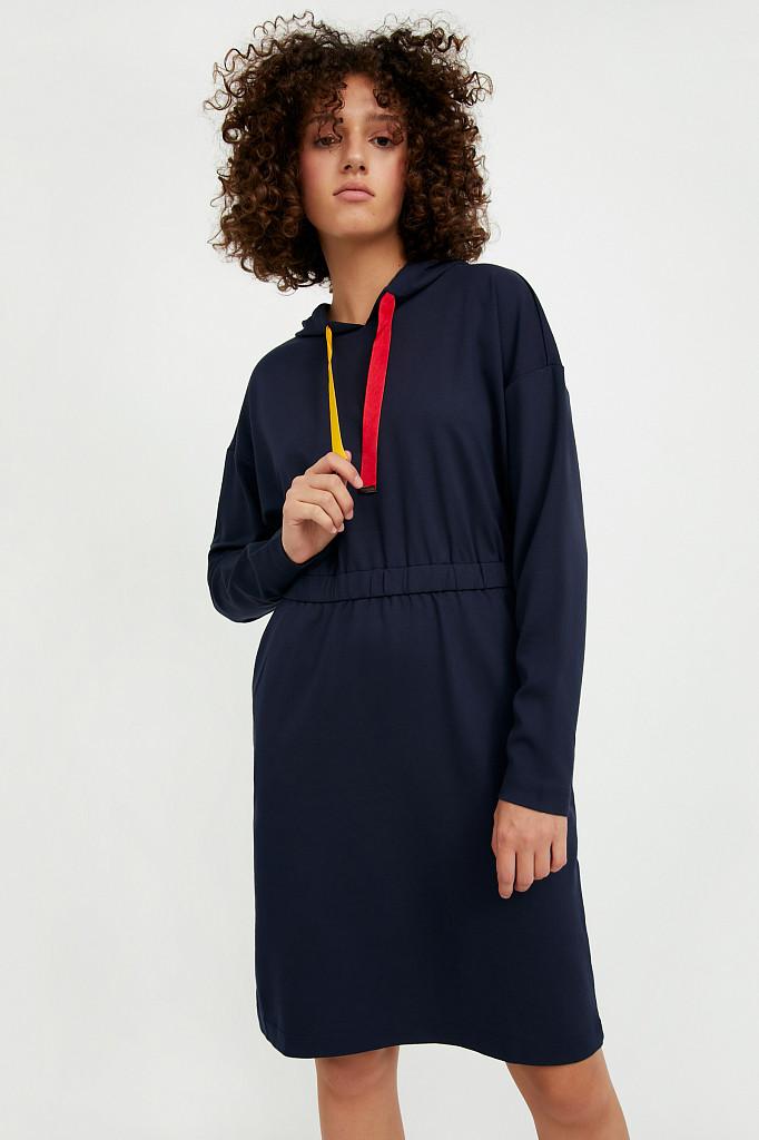 Платье женское Finn Flare, цвет темно-синий, размер S - фото 1