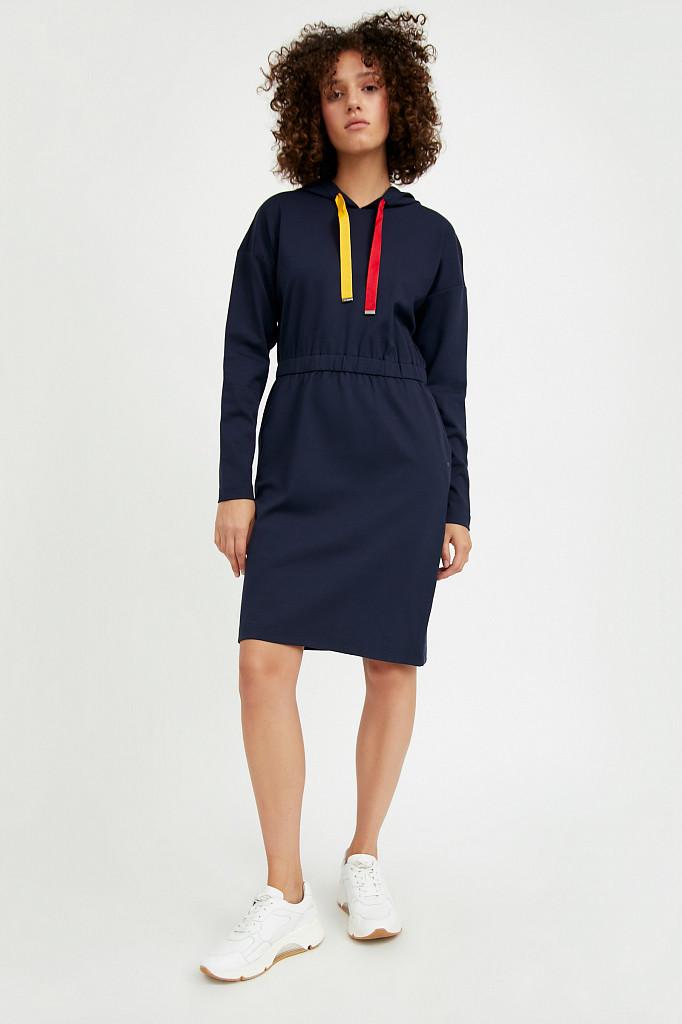 Платье женское Finn Flare, цвет темно-синий, размер S - фото 2