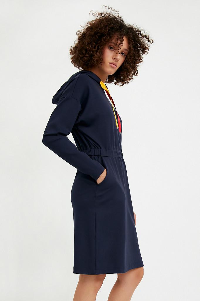 Платье женское Finn Flare, цвет темно-синий, размер S - фото 3