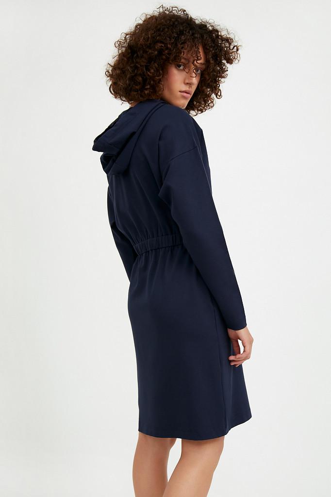 Платье женское Finn Flare, цвет темно-синий, размер S - фото 4