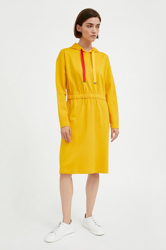 Платье женское Finn Flare, цвет желтый, размер XL - фото 2
