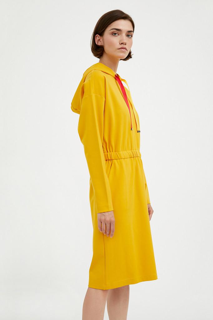 Платье женское Finn Flare, цвет желтый, размер XL - фото 3