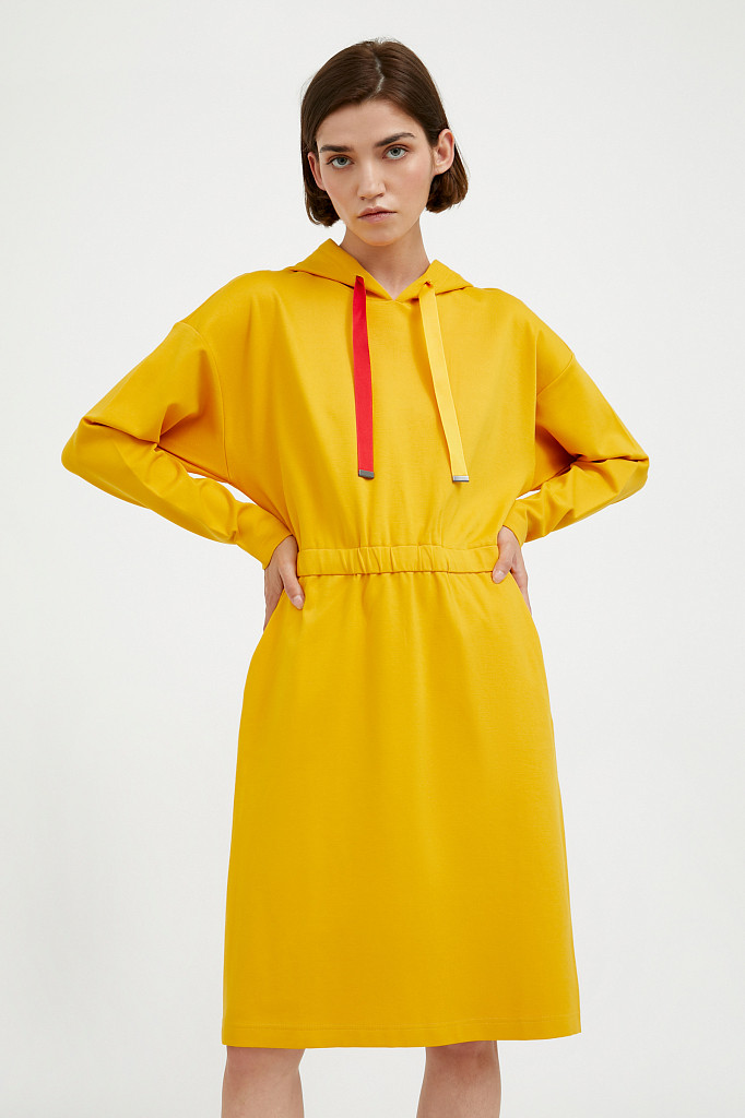Платье женское Finn Flare, цвет желтый, размер L - фото 1