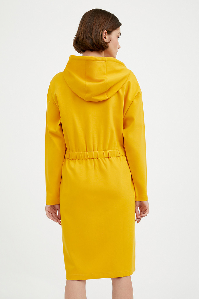 Платье женское Finn Flare, цвет желтый, размер L - фото 4