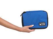 Органайзер для зарядных устройств, USB-флешек и других аксессуаров, синий, фото 2