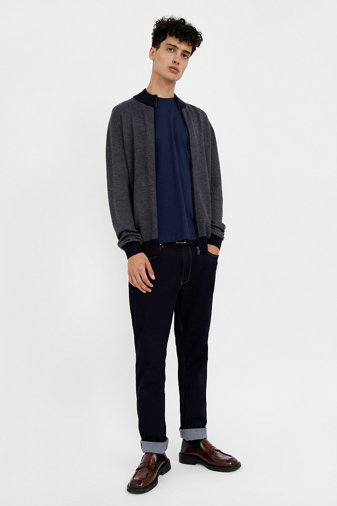 Жакет мужской Finn Flare, цвет темно-синий, размер S - фото 3