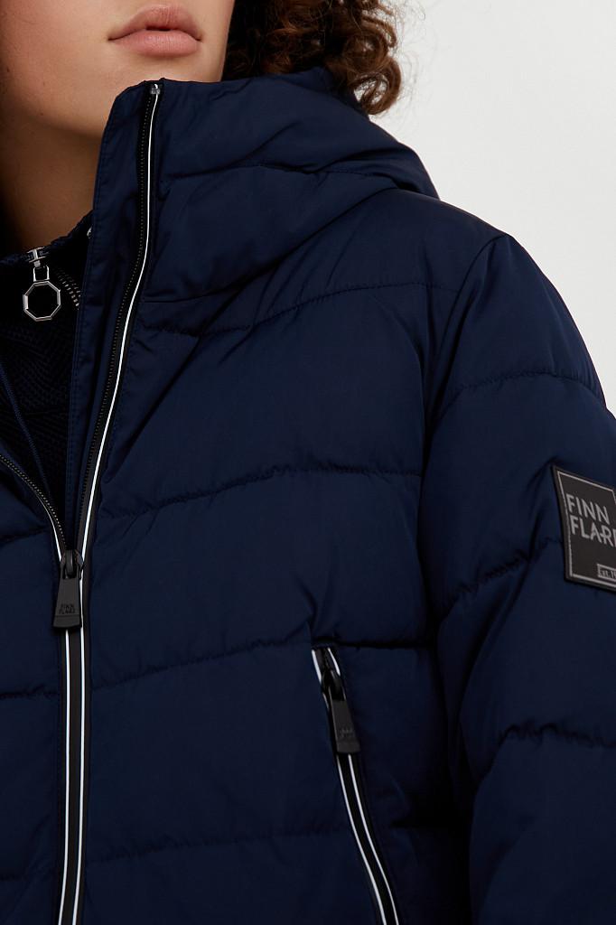 Полупальто женское Finn Flare, цвет темно-синий, размер M - фото 5