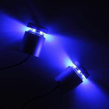 Дистанционный держатель  алюминиевый с подсветкой 25×25 синий (2 шт)
