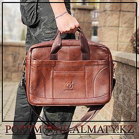 Мужская сумка (портфель)для ноутбука BULLCAPTAIN натуральная кожа 100%