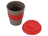 Стакан с силиконовой крышкой Café, красный, фото 2