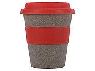 Стакан с силиконовой крышкой Café, красный, фото 3