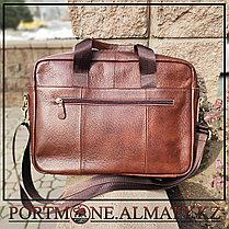 Мужская сумка (портфель)для ноутбука BULLCAPTAIN натуральная кожа 100%, фото 3