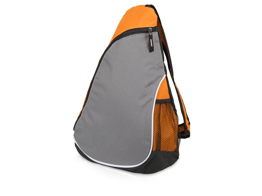 Рюкзак Спортивный, оранжевый/серый - фото 1
