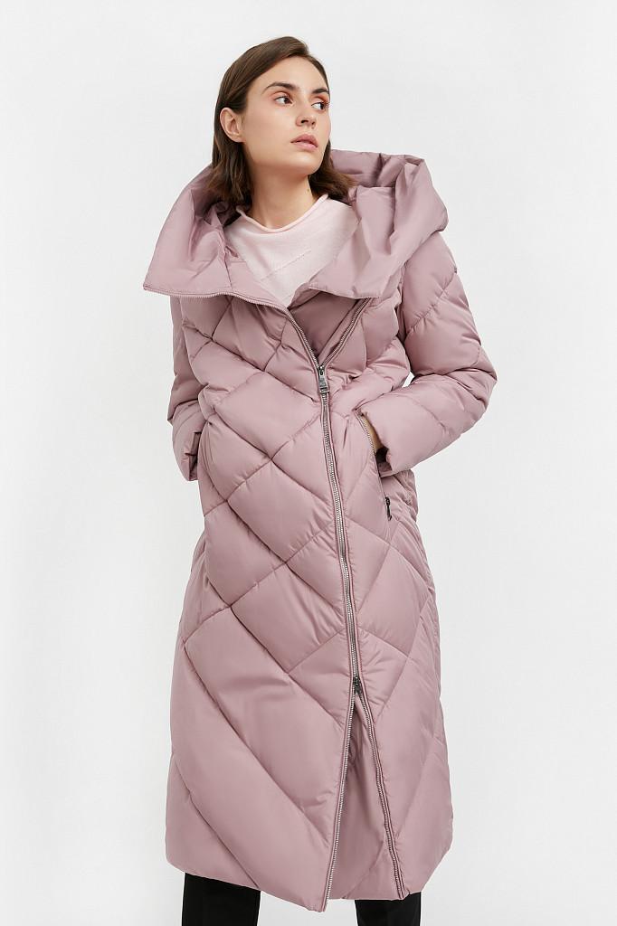 Пальто женское Finn Flare, цвет серо-розовый, размер L - фото 1