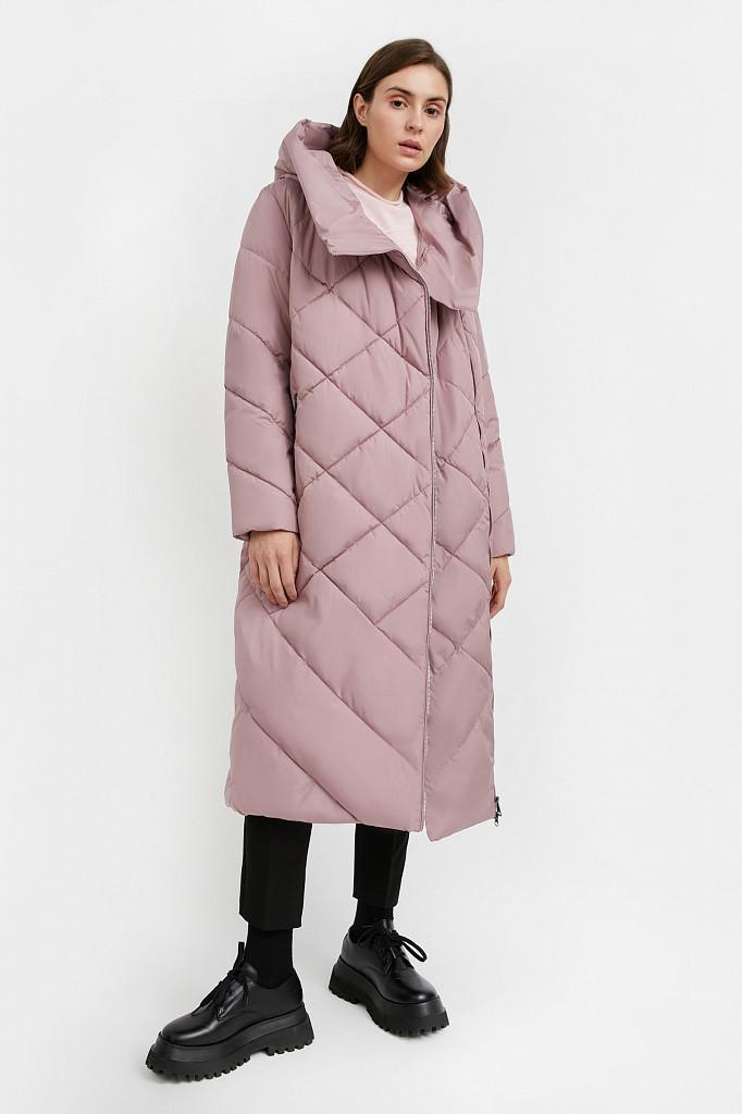 Пальто женское Finn Flare, цвет серо-розовый, размер L - фото 2