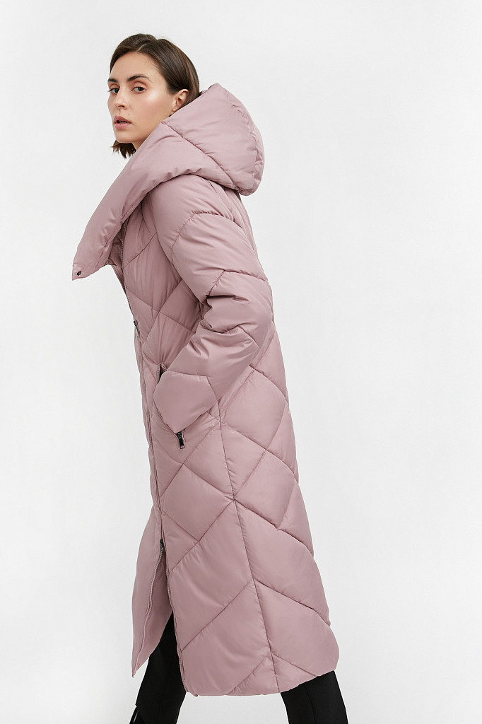 Пальто женское Finn Flare, цвет серо-розовый, размер L - фото 3
