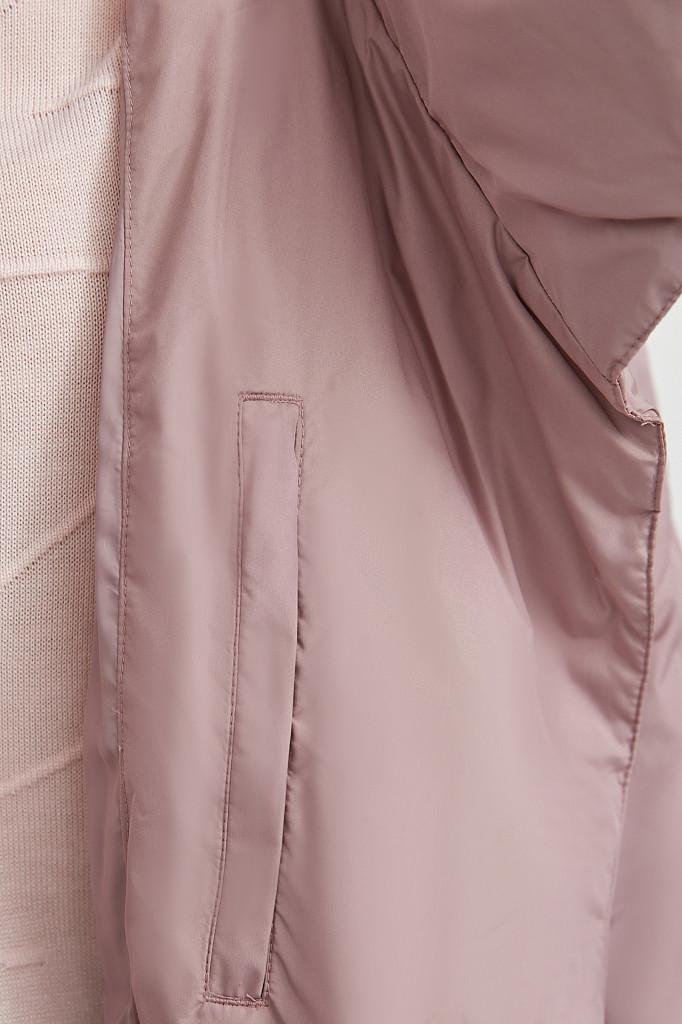 Пальто женское Finn Flare, цвет серо-розовый, размер L - фото 4