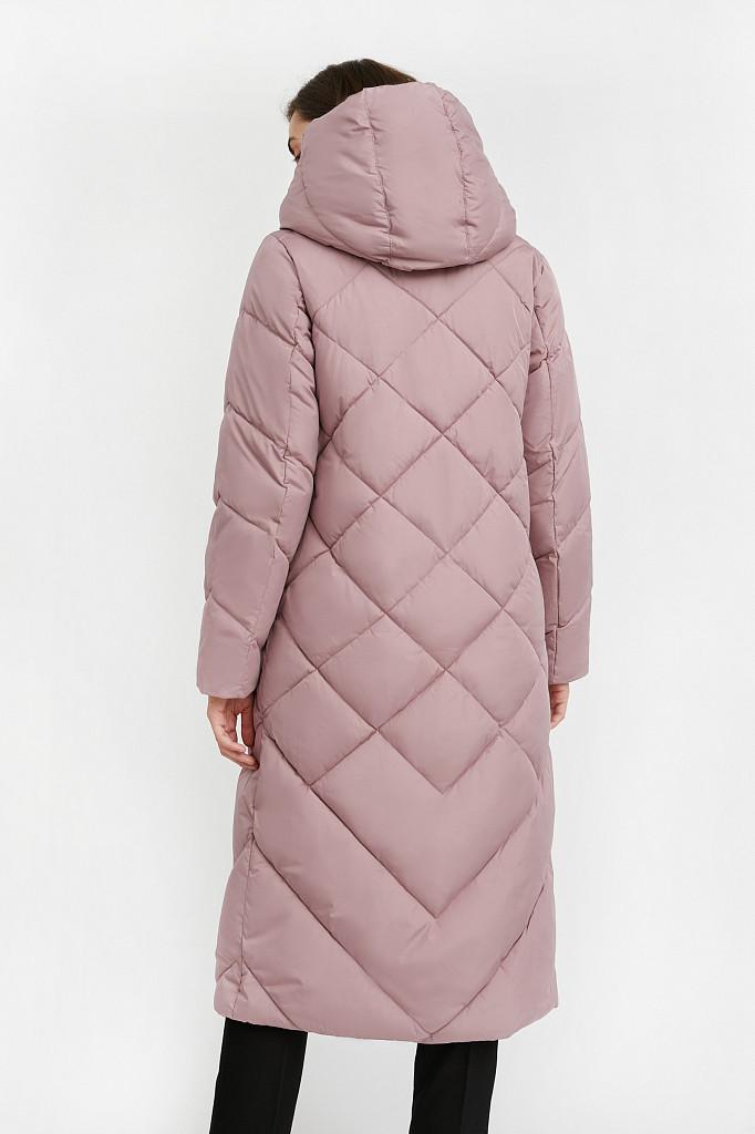 Пальто женское Finn Flare, цвет серо-розовый, размер L - фото 5