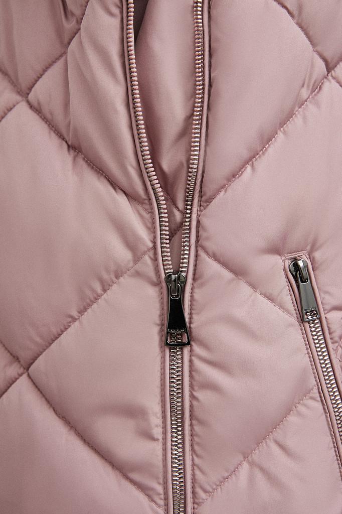 Пальто женское Finn Flare, цвет серо-розовый, размер L - фото 6
