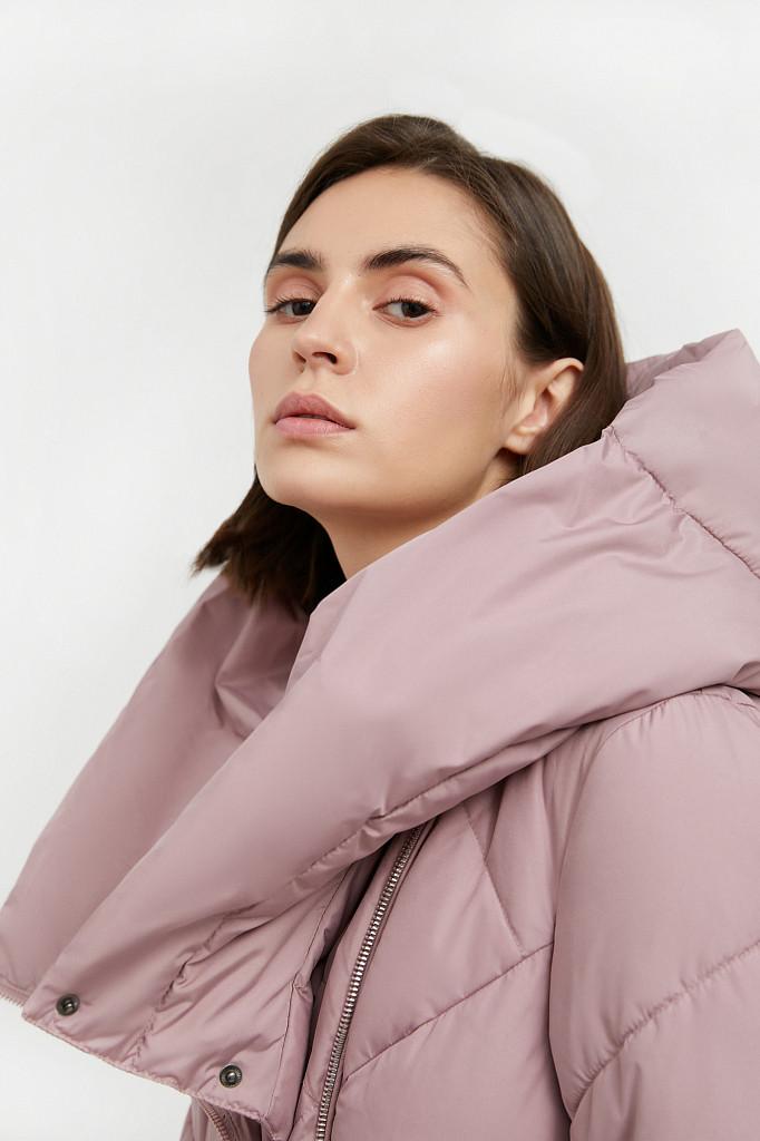 Пальто женское Finn Flare, цвет серо-розовый, размер L - фото 7