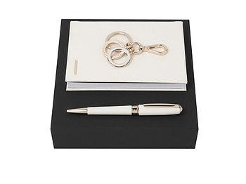 Подарочный набор: блокнот А6, ручка шариковая, брелок. Hugo Boss