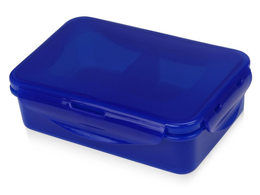 Герметичный ланч-бокс Foody с двумя секциями, 650мл, синий