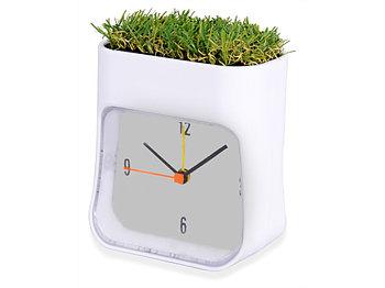 Часы настольные Grass, белый/зеленый