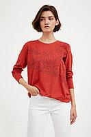 Блузка женская Finn Flare, цвет красновато-коричневый, размер S