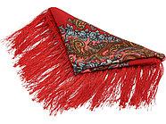 Набор Катерина: кукла в народном костюме, платок в деревянном сундуке, золтистый/красный, фото 3