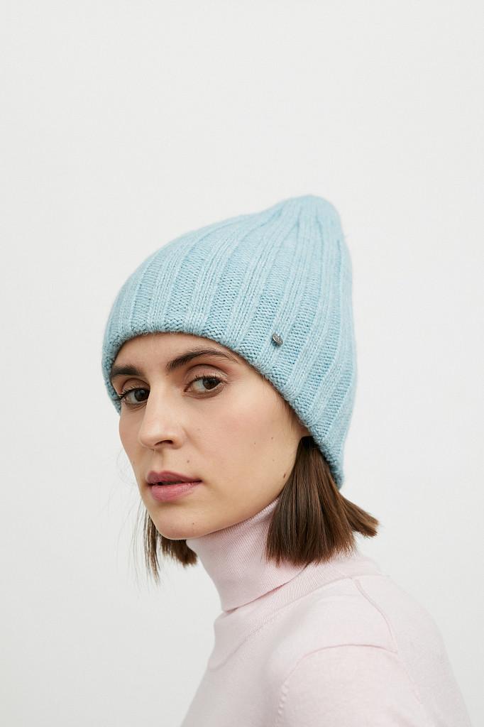 Шапка женская Finn Flare, цвет светло-голубой, размер 56 - фото 2