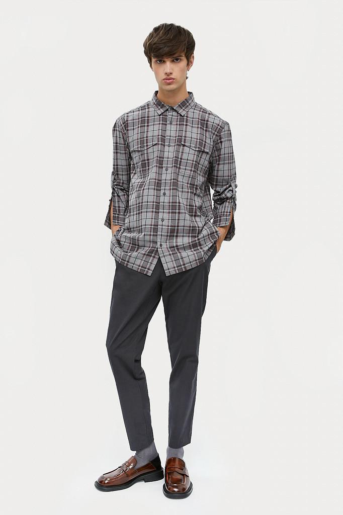 Рубашка мужская Finn Flare, цвет серый, размер 2XL - фото 1