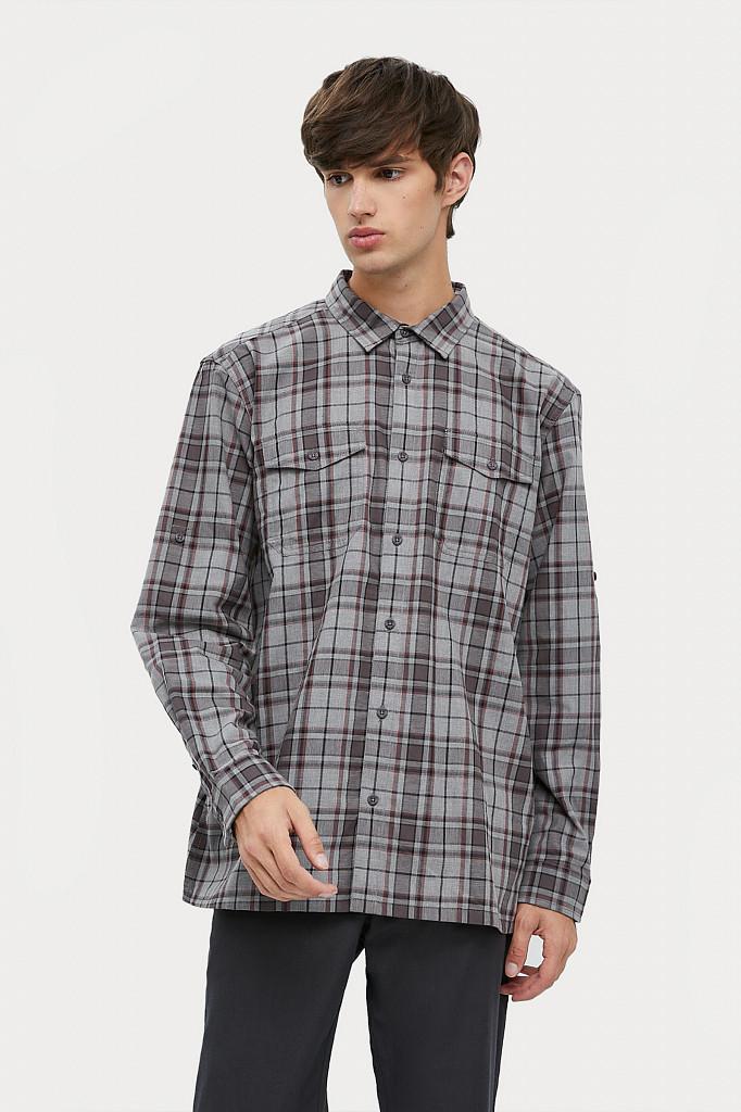 Рубашка мужская Finn Flare, цвет серый, размер 2XL - фото 2