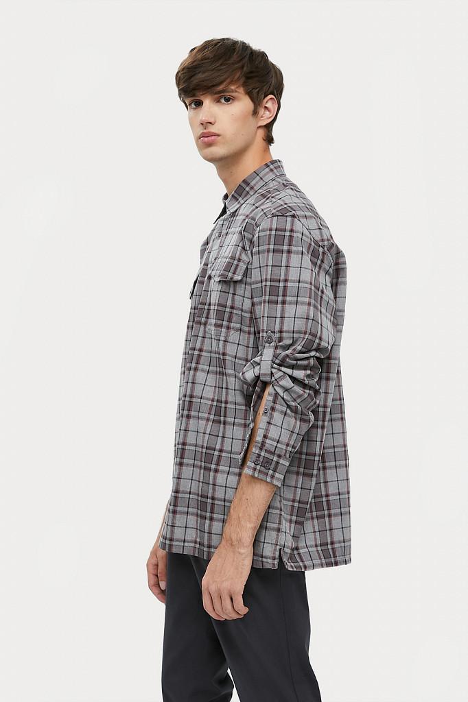 Рубашка мужская Finn Flare, цвет серый, размер 2XL - фото 3