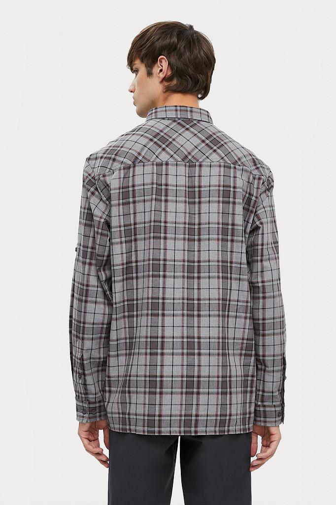 Рубашка мужская Finn Flare, цвет серый, размер 2XL - фото 4