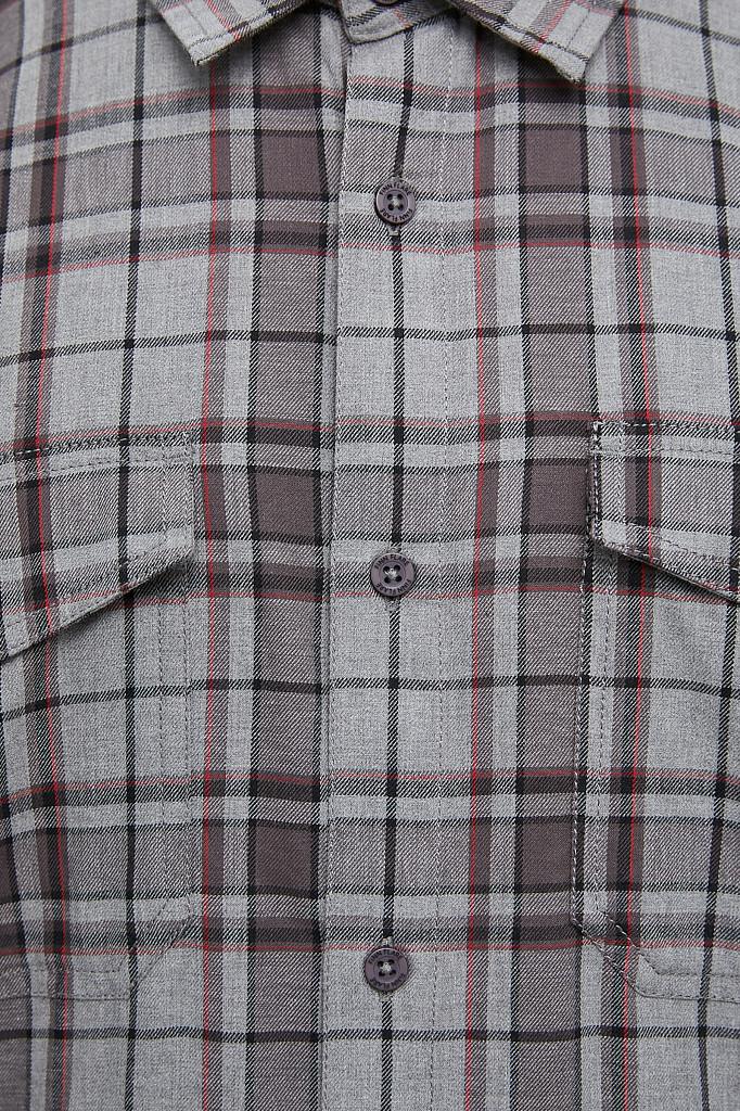Рубашка мужская Finn Flare, цвет серый, размер 2XL - фото 5