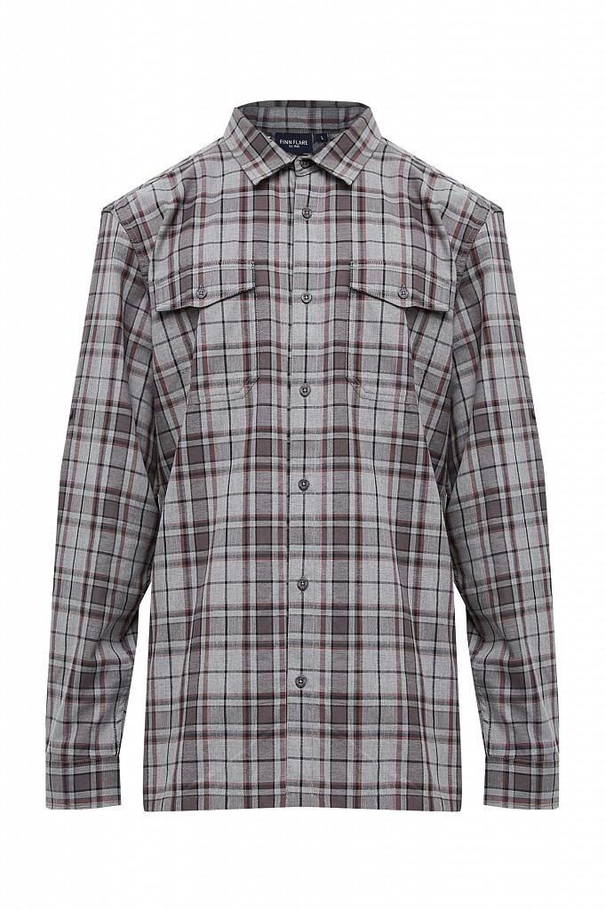 Рубашка мужская Finn Flare, цвет серый, размер 2XL - фото 7