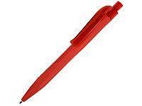 Ручка шариковая QS 20 PRT софт-тач, красный